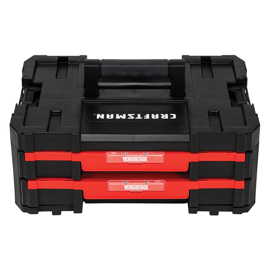 CRAFTSMAN SYSTEM 16 87-in 2-Drawer Red Plastic Tool Box at