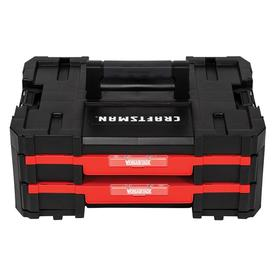 CRAFTSMAN VERSASTACK System 17-in 2-Drawer Red Plastic Tool Box