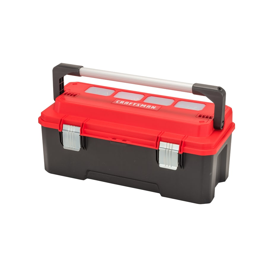 Shop Craftsman Pro 26 In Red Plastic Lockable Tool Box At