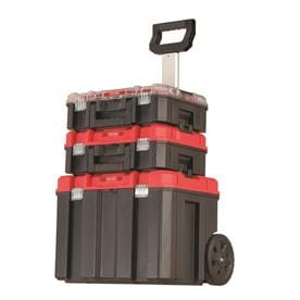 Craftsman System Tower 20 In Red Plastic Aluminum Lockable Wheeled Tool Box
