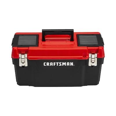Diy 20 In Red Plastic Lockable Tool Box
