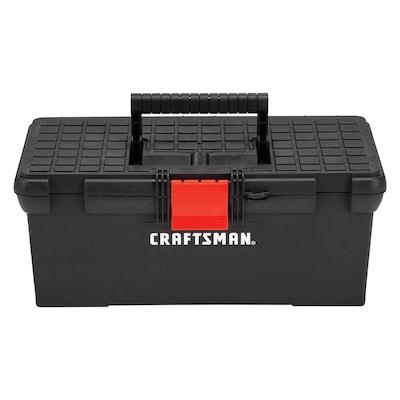 Diy 16 In Red Plastic Lockable Tool Box