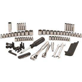 CRAFTSMAN 95-Piece Standard (SAE) and Metric Polished Chrome Mechanics Tool Set