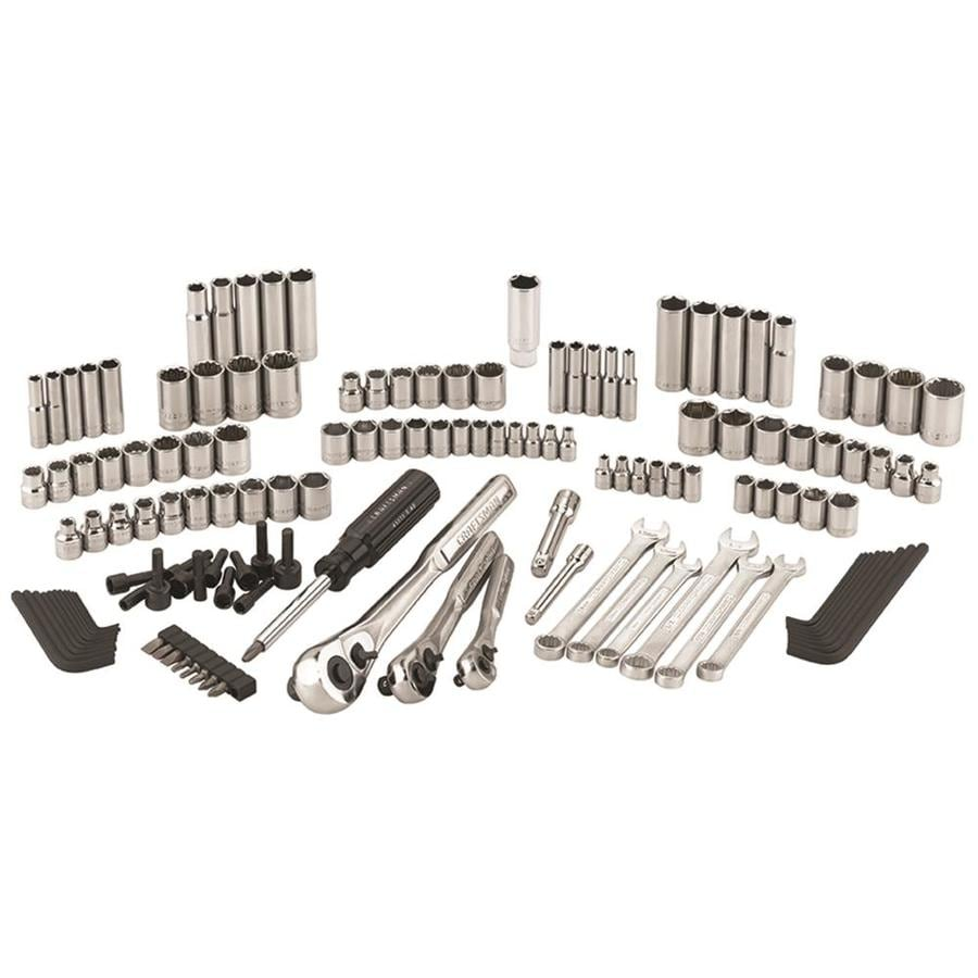 Shop Craftsman 137 Piece Standard Sae And Metric Polished Chrome