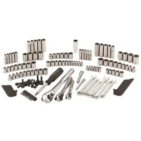 CRAFTSMAN 137-Piece Standard (SAE) and Metric Polished Chrome Mechanics Tool Set