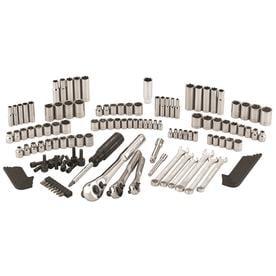 43858305818 CRAFTSMAN 137-Piece Standard (SAE) and Metric Polished Chrome Mechanics  Tool Set
