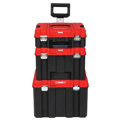 Versastack System 21 In Drawer Black Plastic Wheeled Lockable Tool Box