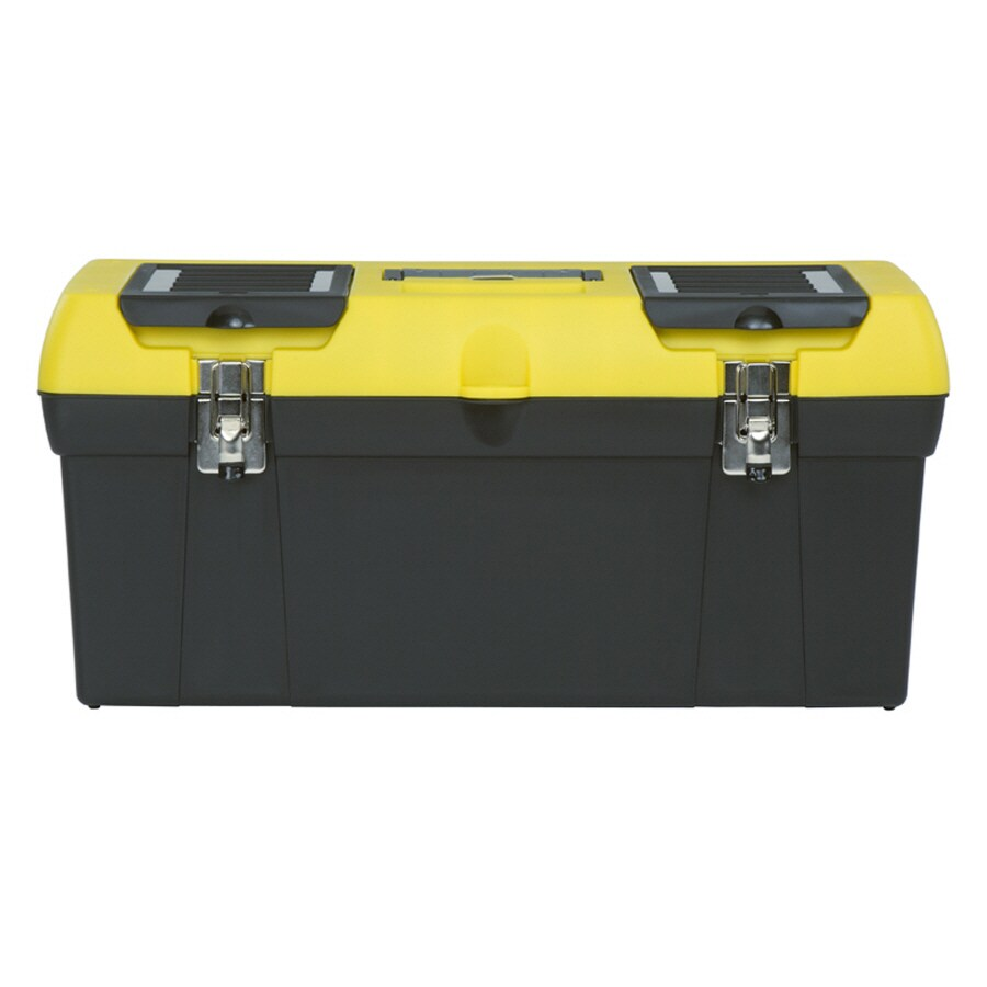 Stanley 19-in Yellow Plastic Lockable Tool Box
