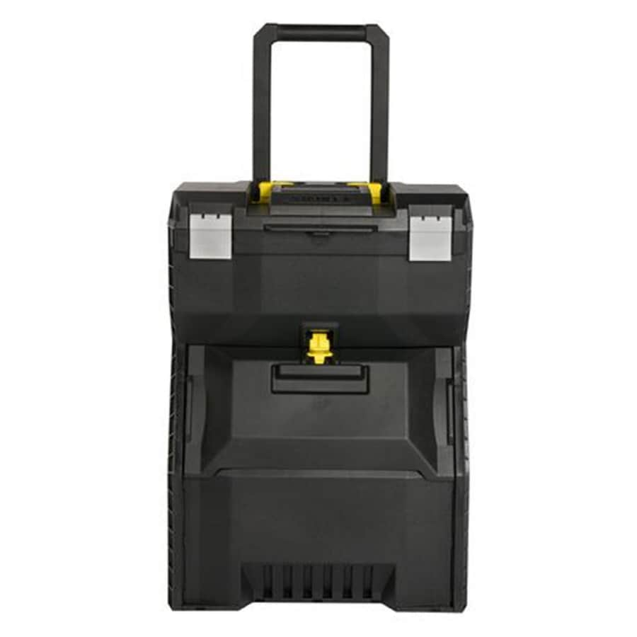 Stanley 16.7-in Black Plastic Lockable Wheeled Tool Box