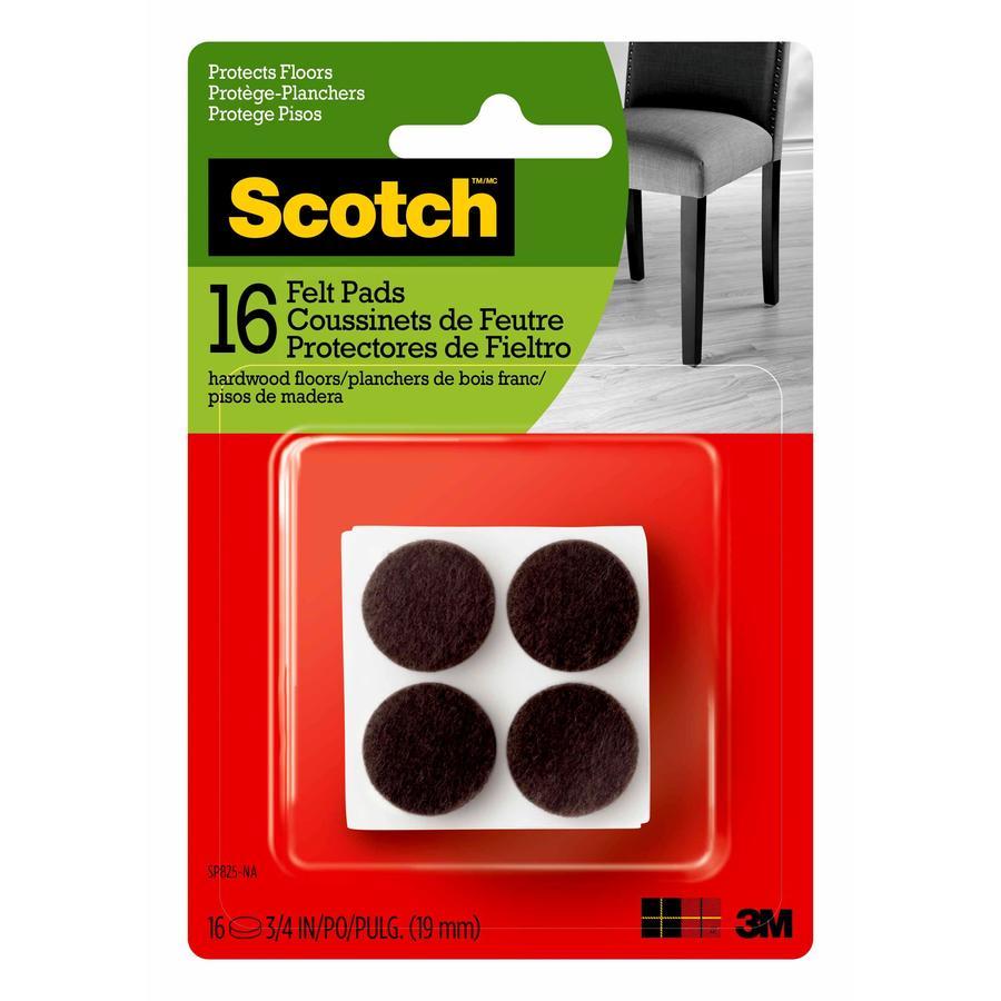 Scotch 16-Pack Brown Round Felt Pad