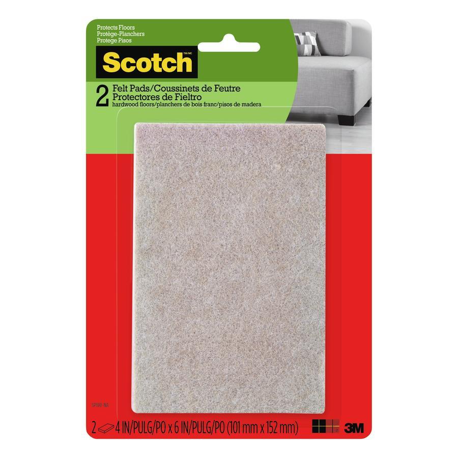 Scotch 2 Pack 4 In X 6 In Beige Strip Felt Pad At Lowescom