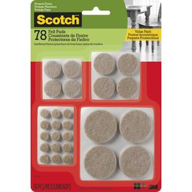 Scotch 78 Pack Orted Beige Felt Pad