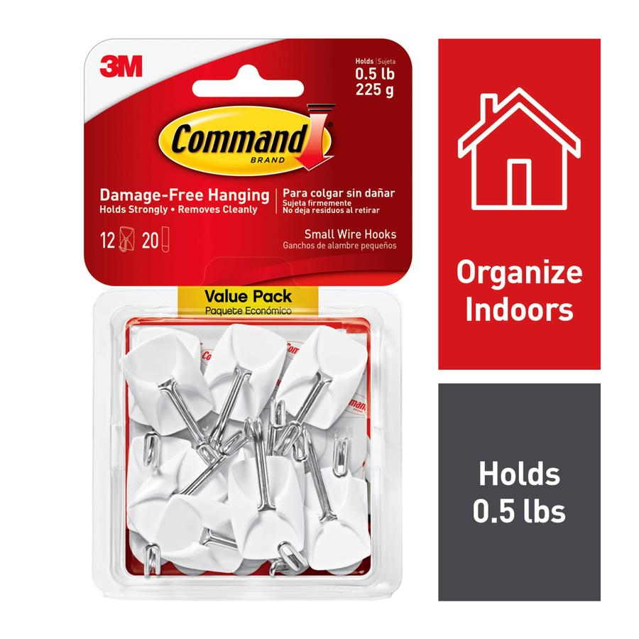 Command 12-Pack White Adhesive Hooks