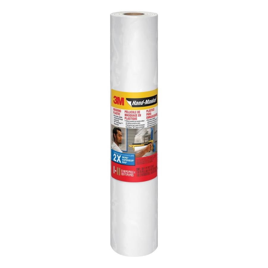 3M 12-in x 360-ft Non-Adhesive Masking Film
