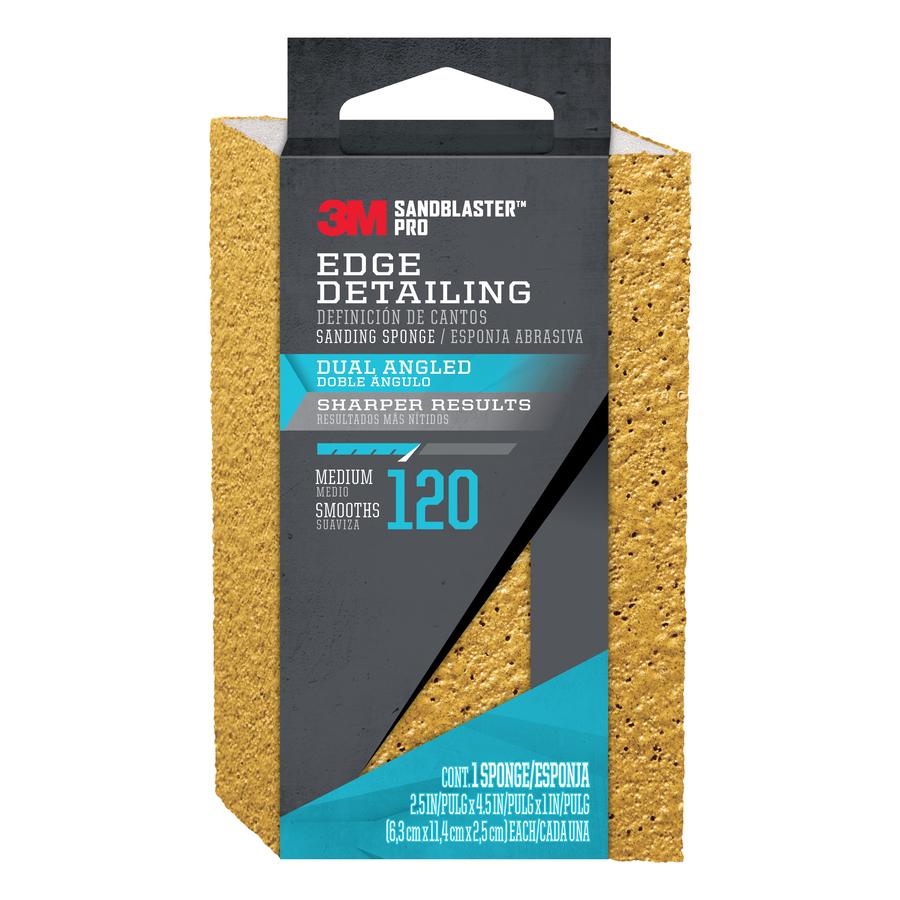 3M 2.5-in x 4.5-in 120-Grit Sandblaster Sanding Sponge