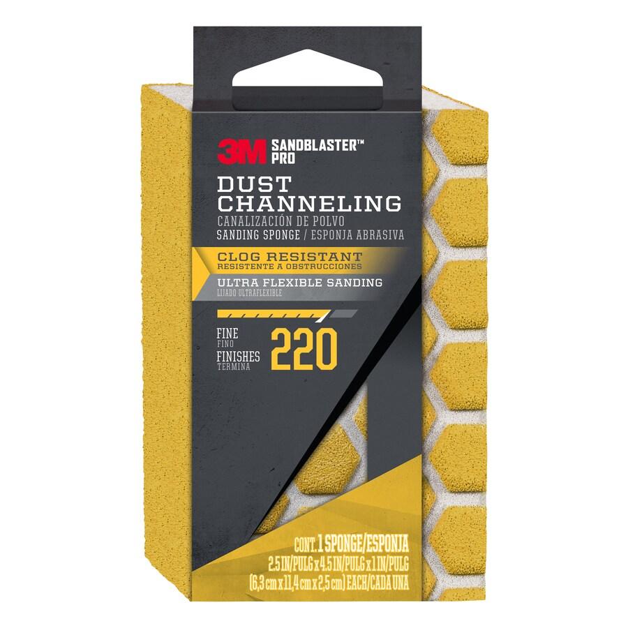 3M 2.5-in x 4.5-in 220-Grit Sandblaster Sanding Sponge