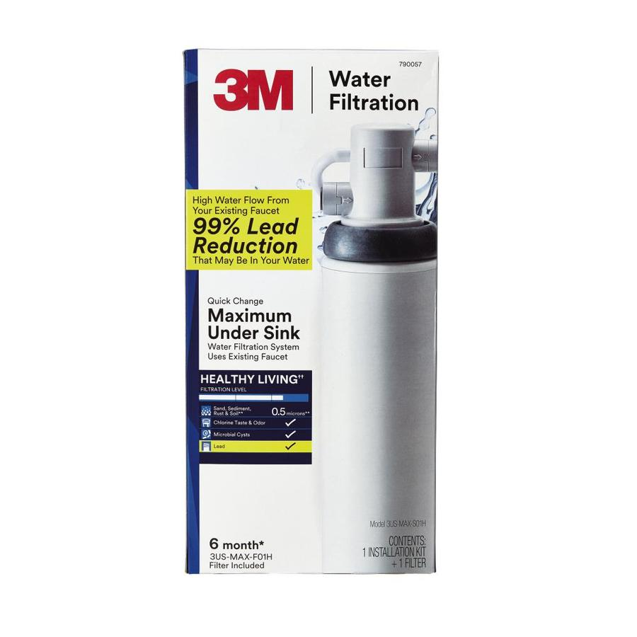 Shop 3m quick change maximum13 in x 10 in under sink complete filtration system at - Lowes water filter under sink ...