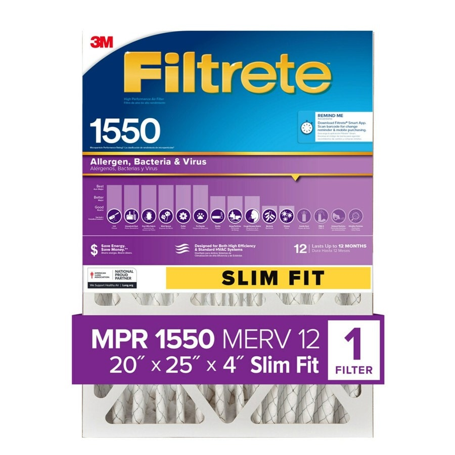 Filtrete (Common: 25-in x 20-in x 4-in; Actual: 19.5-in x 24.5-in x 3.5-in) Electrostatic Pleated Air Filter
