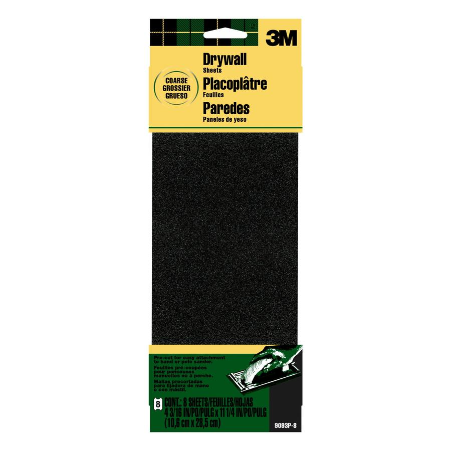3M 8-Pack 4.1875-in W x 11.25-in L 60-Grit Commercial Sandpaper