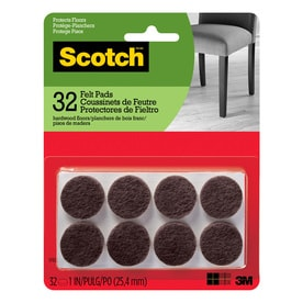 Scotch 32 Pack 1 In Brown Round Felt Pad