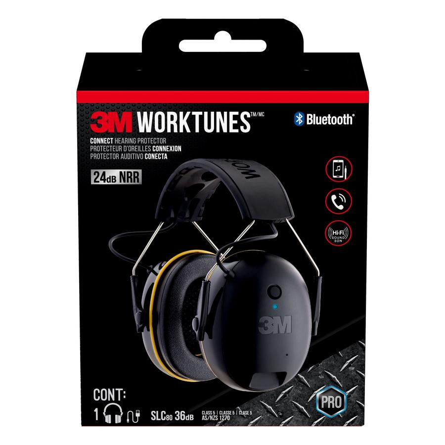 e73698378c3 3M 3M WorkTunes Plastic Hearing Protection Earmuffs with Bluetooth  Compatibility