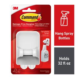 Command Spray Bottle Hanger, 1 hanger, 2 large strips