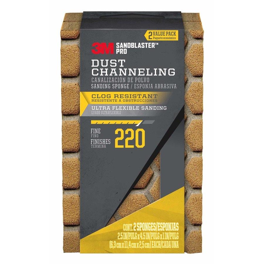 3M SandBlaster Pro 2-Pack 2.5-in x 4.5-in 220-Grit Premium Sanding Sponges