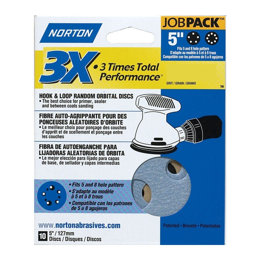 Norton 10-Pack 220-Grit Commercial Disc Sandpaper