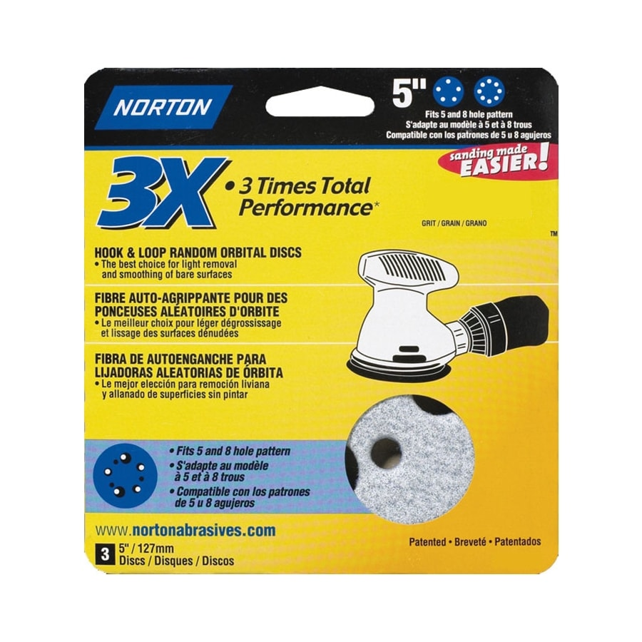 Norton 3-Pack 150-Grit Disc Sandpaper