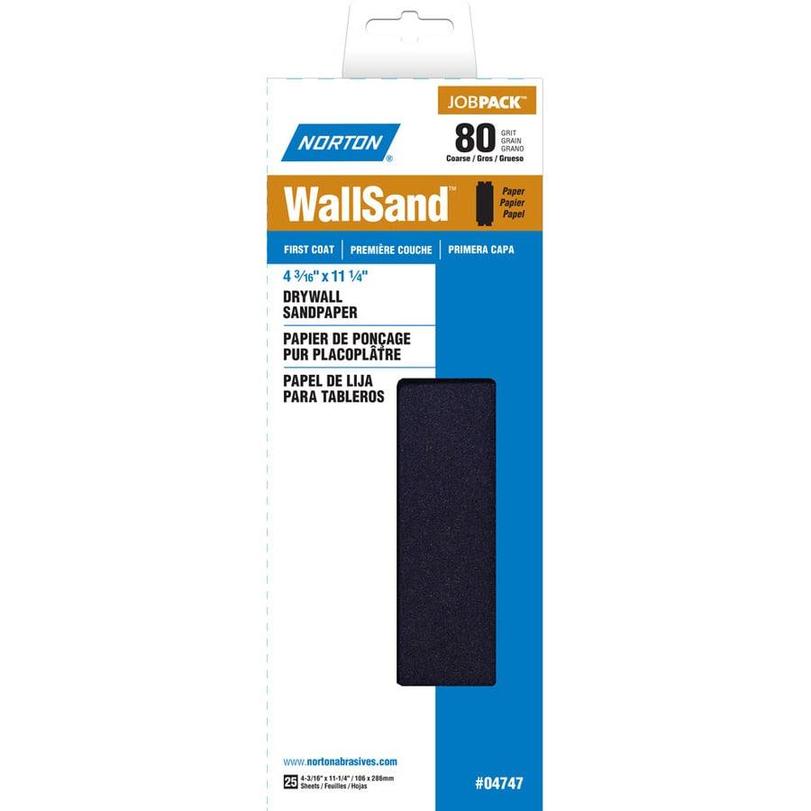 Norton 4.187-in W x 11.25-in L 80-Grit Industrial Sandpaper Sheets