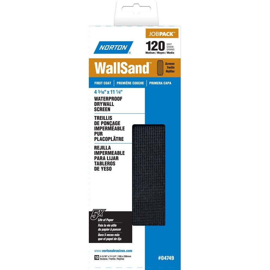 Norton 4.187-in W x 11.25-in L 120-Grit Industrial Sanding Screen Sandpaper