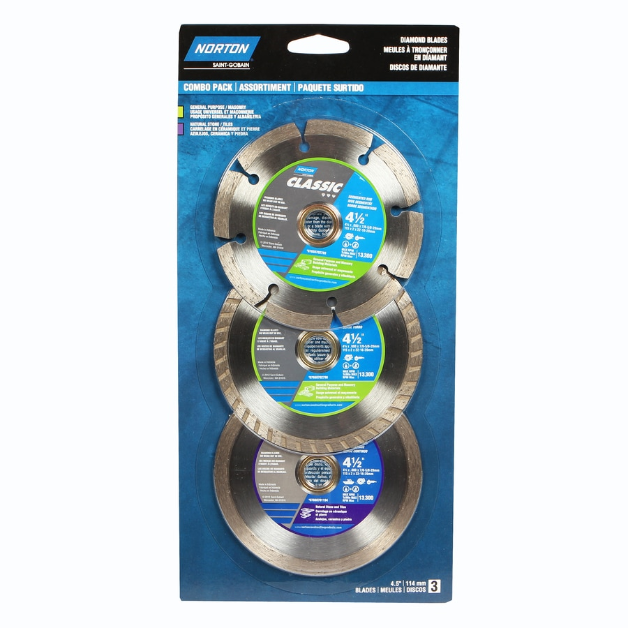 Norton 3-Pack 4-1/2-in Wet Or Dry Cut Continuous Diamond Circular Saw Blade