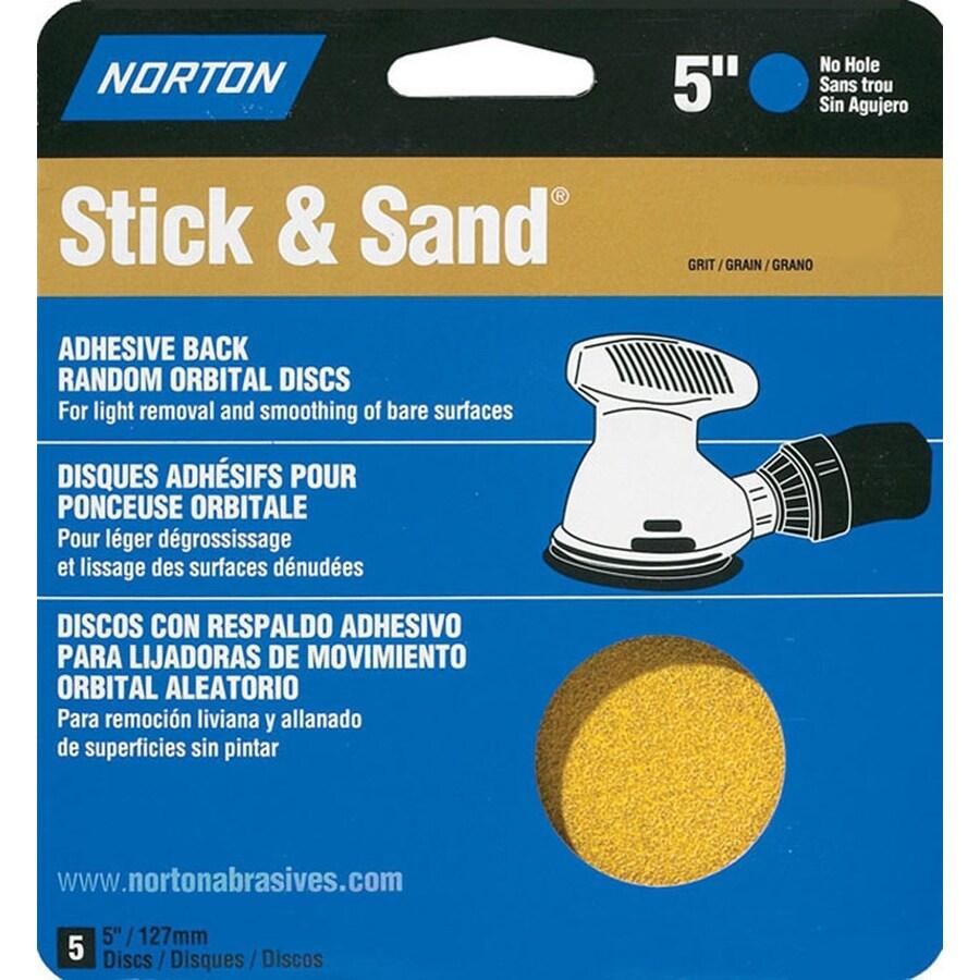 Norton 5-Pack 80-Grit 5.8-in W x 6.2-in L Disc Sandpaper