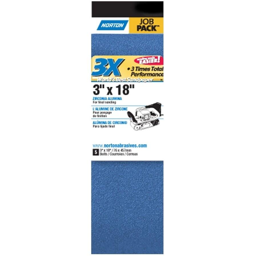 Norton 5-Pack 4-in W x 10.8-in L 120-Grit Commercial Belt Sandpaper
