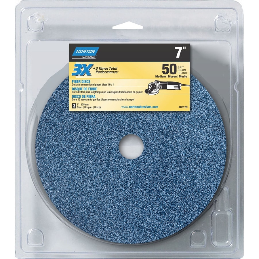 Norton 3-Pack W x L 50-Grit Commercial Disc Sandpaper