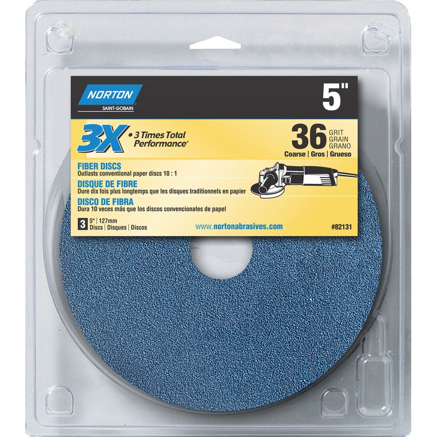 Norton 3-Pack W x L 36-Grit Commercial Disc Sandpaper