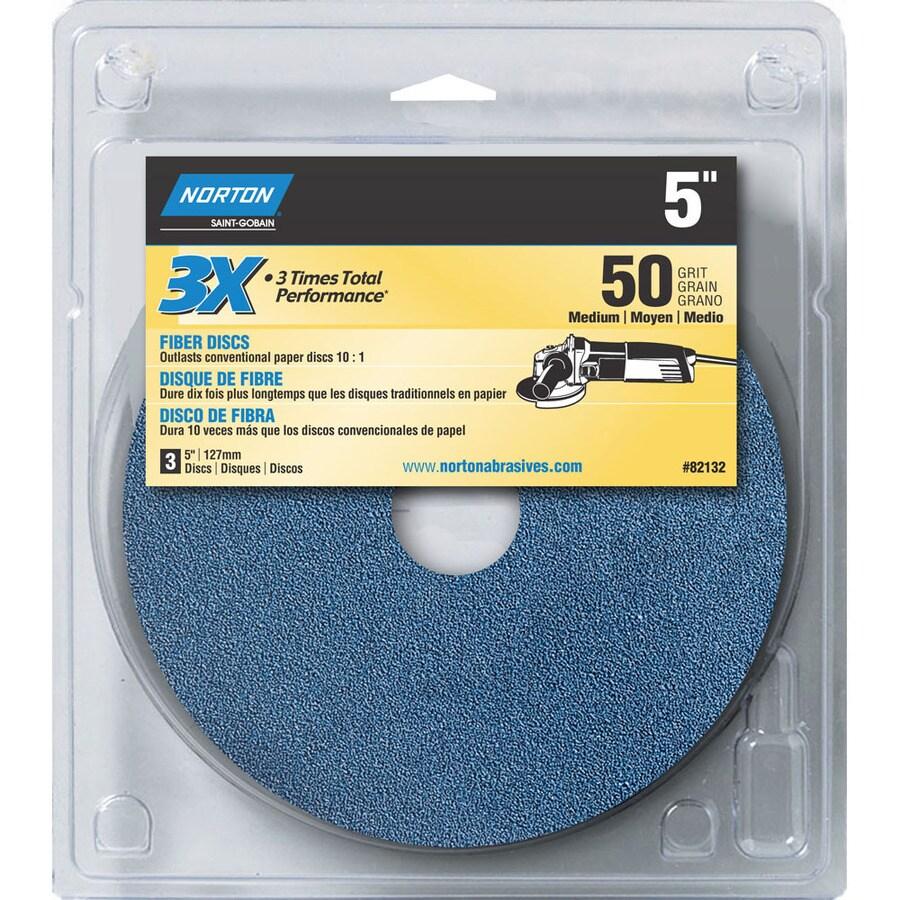 Norton 3-Pack W x L 50-Grit Commercial Disc Sandpaper