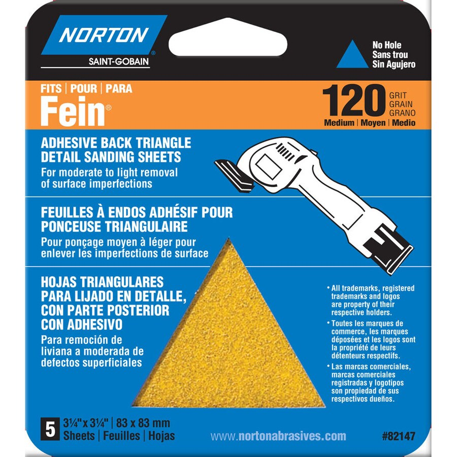 Norton 6-Pack W x L 120-Grit Commercial Detail Sandpaper Sheets