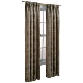 Allen + Roth Raja 95 In Polyester Rod Pocket Light Filtering Standard Lined  Single Curtain