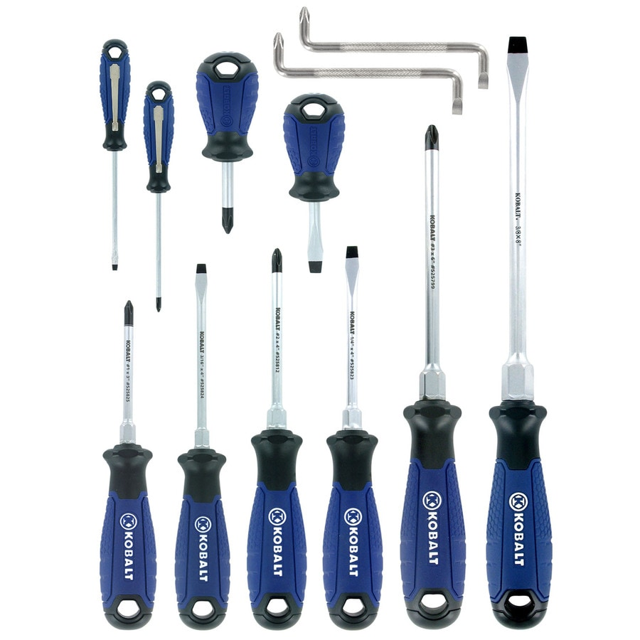 shop kobalt 12 piece variety pack screwdriver set at. Black Bedroom Furniture Sets. Home Design Ideas