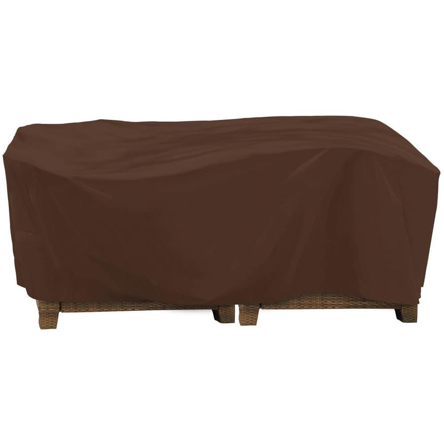 Shop elemental dark brown premium polyester conversation for Elemental outdoor furniture covers