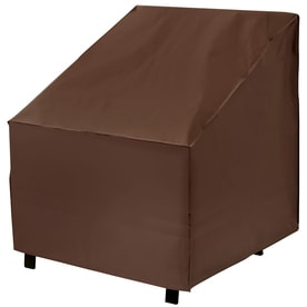 Elemental Dark Brown Premium Polyester Conversation Chair Cover