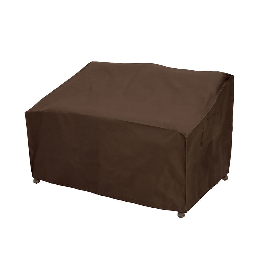elemental Dark Brown Premium Polyester Loveseat Cover