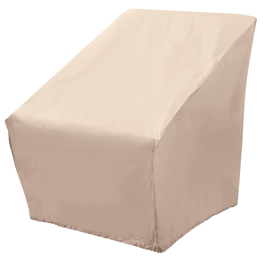 Shop elemental tan polyester conversation chair cover at for Elemental outdoor furniture covers