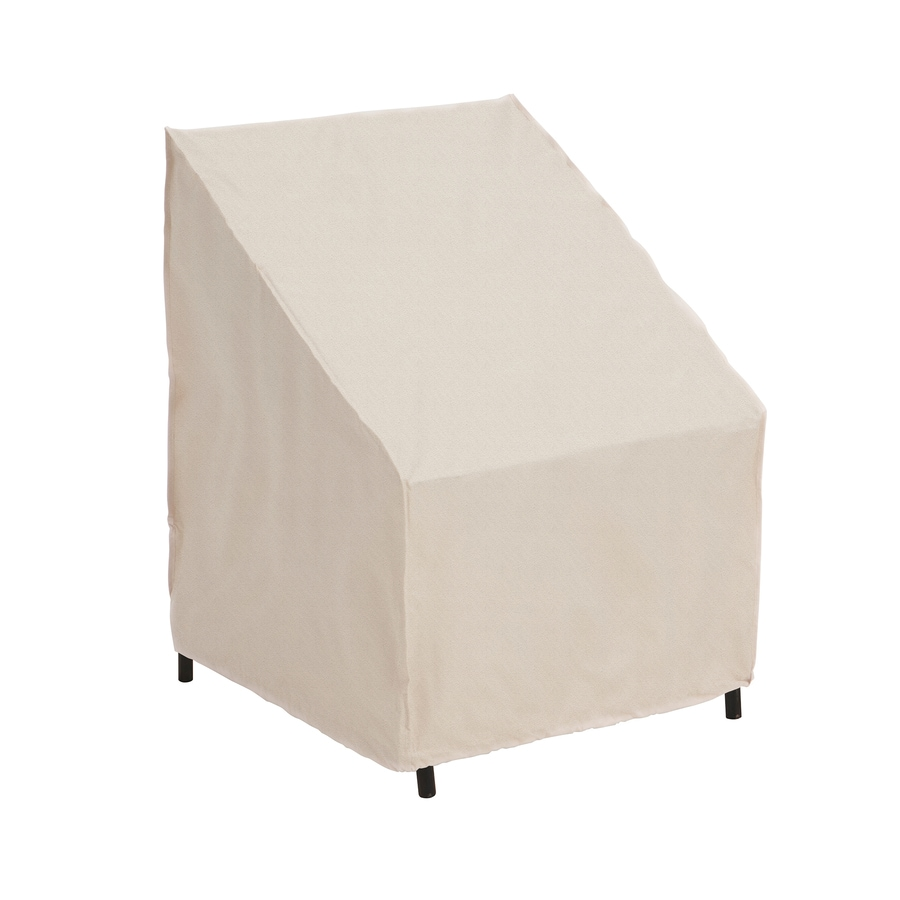 elemental Tan Polyester Dining Chair Cover - Shop Patio Furniture Covers At Lowes.com