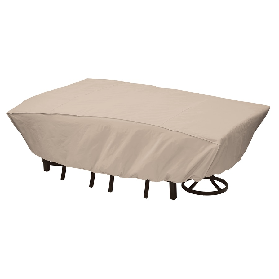 elemental Tan Polyester Dining Set Cover - Shop Patio Furniture Covers At Lowes.com