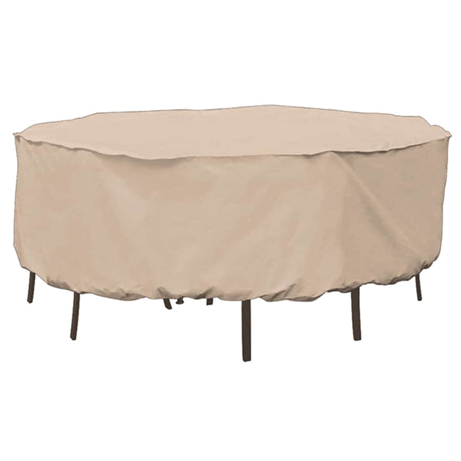 Shop elemental tan polyester dining set cover at lowescom for Elemental outdoor furniture covers