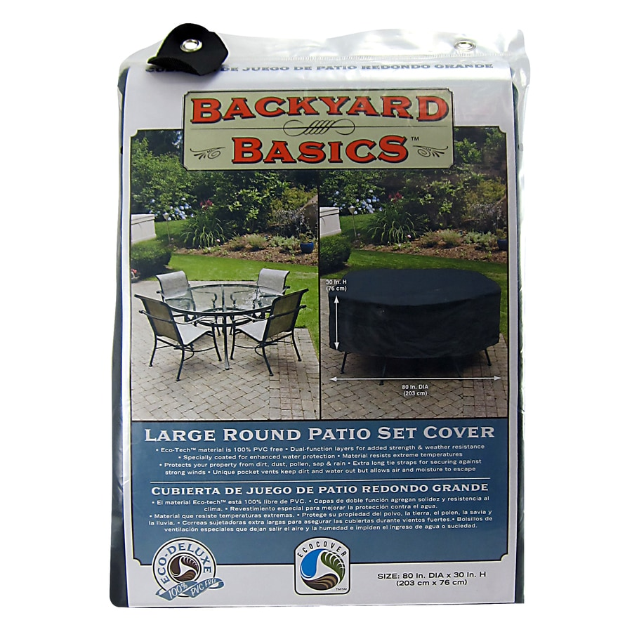 Mr. Bar-B-Q Black Dining Table Round Cover