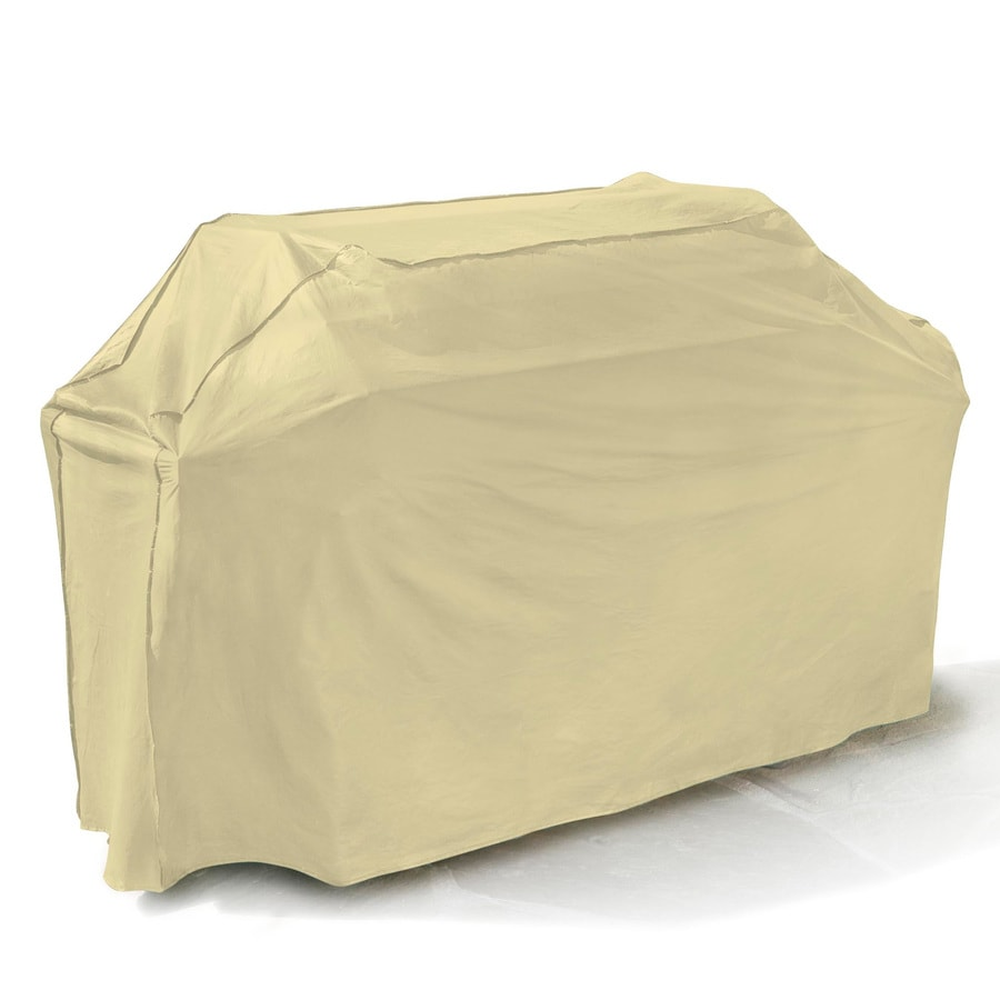 Mr. Bar-B-Q Backyard Basics Taupe Polyester 65-in Gas Grill Cover