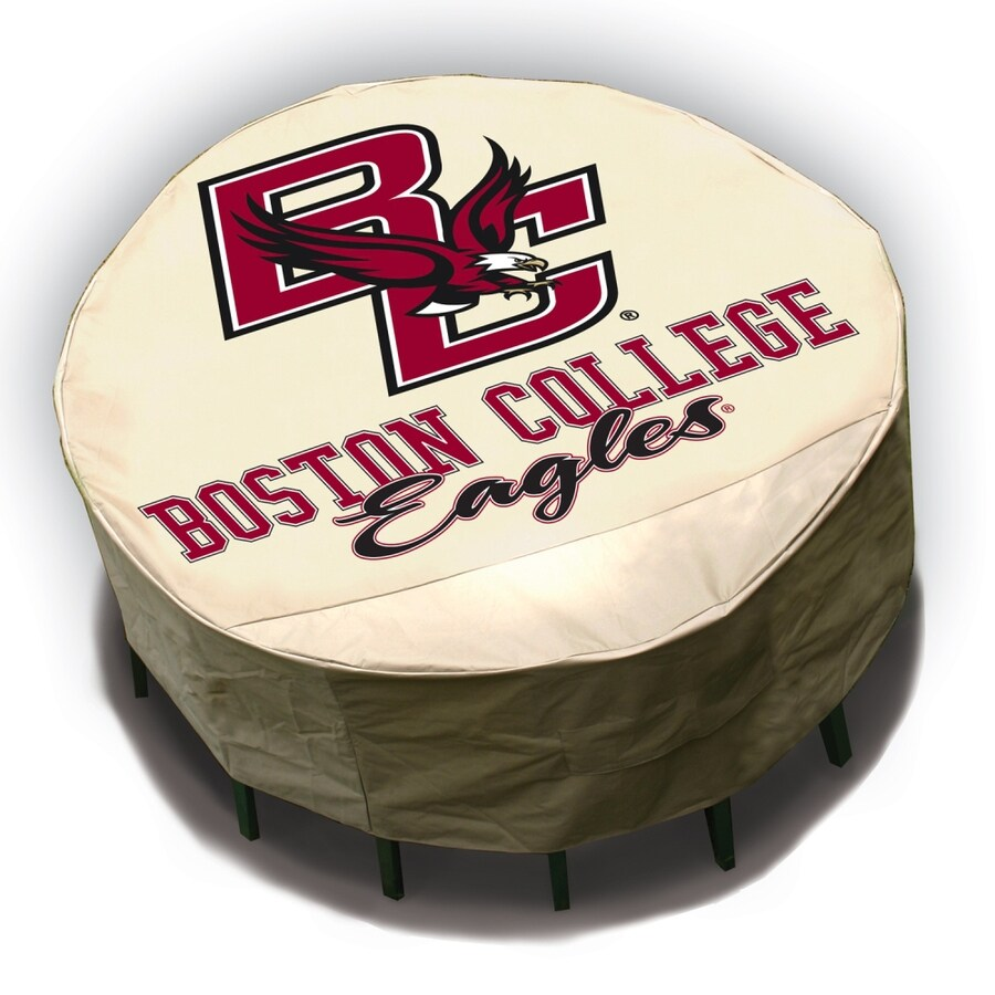 Mr. Bar-B-Q Boston College Eagles Tan Dining Table Round Cover